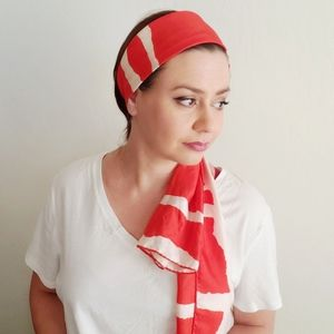 Poppy Red Vintage Silk Echo Scarf
